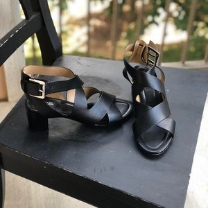 Michaels Kors black strappy heels size 8.5